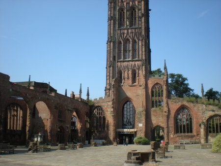 Inside the Old Coventry Cathedral