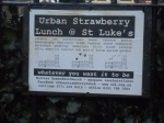 Urban Strawberry Poster at St. Luke's Church, Liverpool