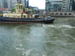 Tug Preparing to Take MS Deutschland in Tow