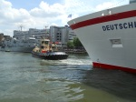 MS Deutschland Leaves Its Berth