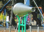 One of a Pair of Megaphones in Bruce Castle Park