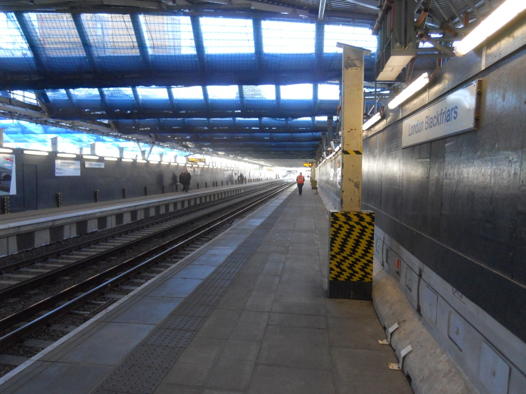 The Thameslink Platforms at the new Blackfriars Station