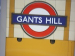 Station sign at Gants Hill Station