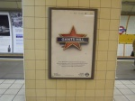 Poster at Gants Hill Station