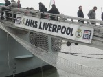 Boarding HMS Liverpool