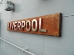 Nameplate on HMS Liverpool
