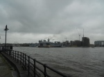 HMS Ocean From the North Bank of the Thames
