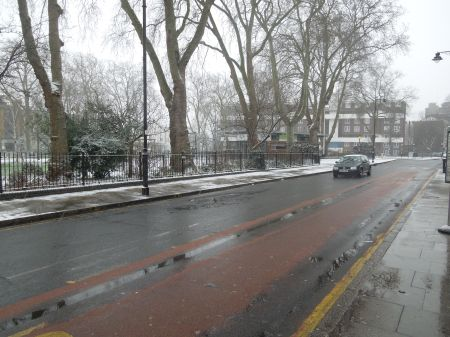 Newington Green In The Snow