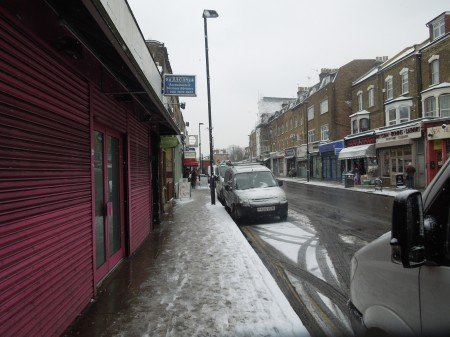 Up Stroud Green Road In The Snow