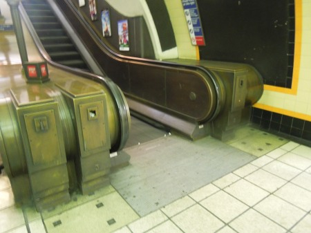 Escalator At Southgate Station