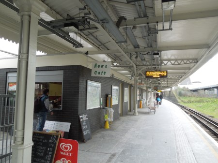 An Overground Station With On-Platform Cafe And Toilets