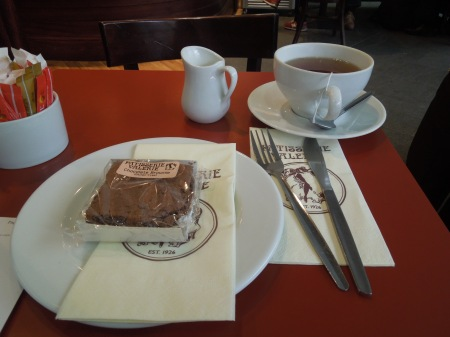 A Chocolate Brownie At Pattiserie Valerie