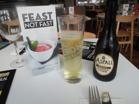 Aspall Cyder At Pizza Express