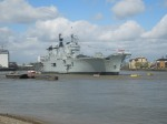 HMS Illustrous At Greenwich