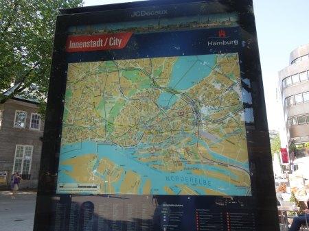 A Map In Hamburg