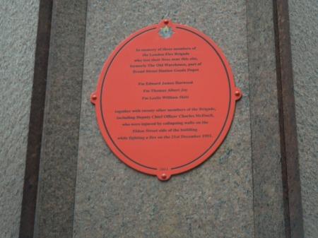 A Plaque In Eldon Street
