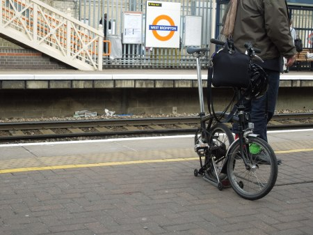 A Brompton Bicycle At West Brompton