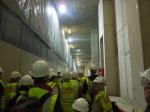 Inside Canary Wharf CrossrailStation