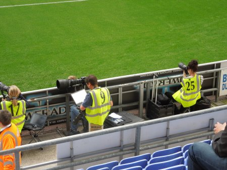 Two Female Football Photograhers