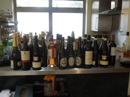 A Sad Row Of Bottles