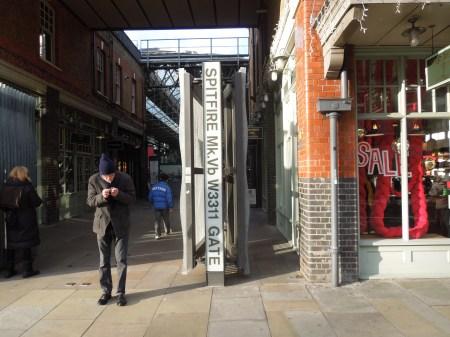 The Spitfire Gate At Spitalfields Market