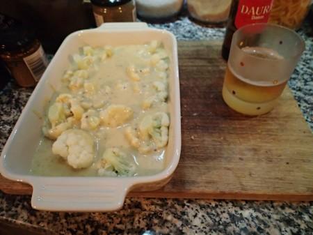 Cauliflower In Cheese Sauce