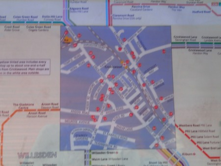 The Dudding Hill Line On A Bus Map