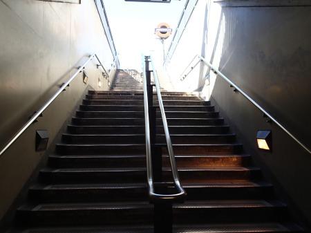 A Double Handrail At London Bridge