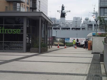 The Navy Pops Into Waitrose