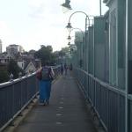 Crossing Fulham Railway Bridge