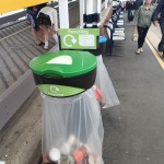 Peterborough Station's Litter Bins