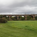 The Wharncliffe Viaduct - Note Overhead Line Pylons