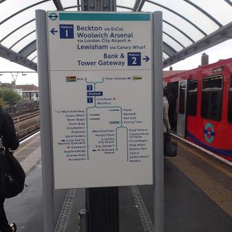 DLR Map At Shadwell Station