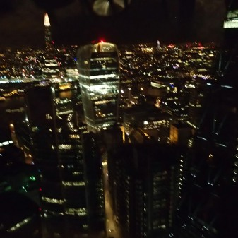 The View From The Gherkin At  Night