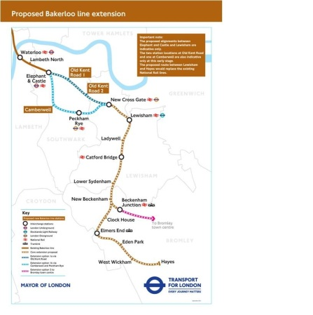Bakerloo Line Extension Map