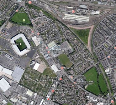 Grangetown And Ninian Park Stations, And Cardiff City Stadium