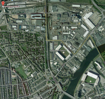 Nottingham Station And The Football Grounds