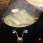 7. Simmer Celery In 1.5 Litres Salted Water For 8 mins.