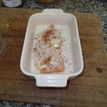 3. Cover Salmon With Cheese, Breadcrumb And Paprika