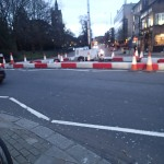 Road Barriers At Highbury Corner
