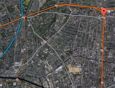 Map 3. Angel To Dalston Junction