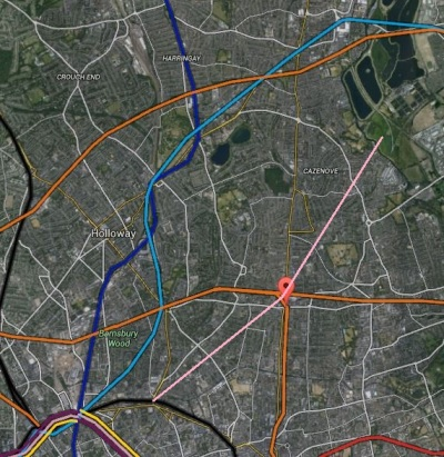 Map 4. Possible Crossrail 2 Route At Dalston