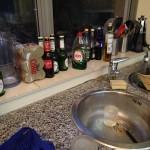 Bottles Behind The Sink!