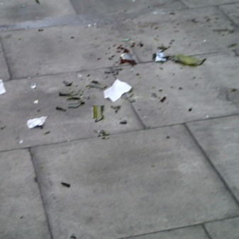 Broken Glass Outside The Pub