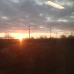 Sunrise On A Eurostar to Paris