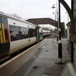 Trains Pass At Rye Station