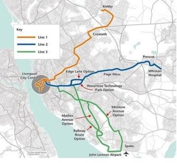 Merseytram Map