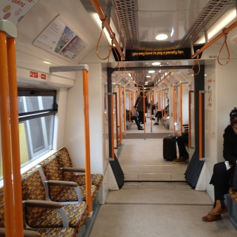 Looking Through A Five Car Class 378 Train