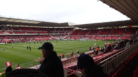 A Sparse Crowd At Middlesbrough