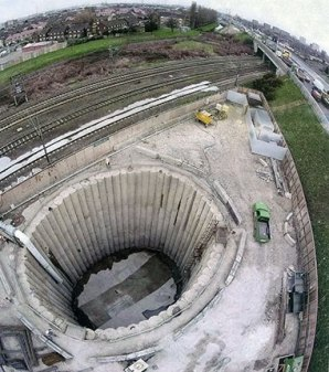 Waysite Ventilation Shaft Under Construction